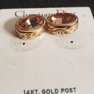 Dior Jewelry - Christian Dior 14KT. Gold Post Earrings